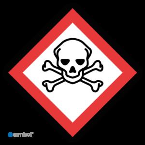 Simbol - Sticker GHS06 Giftig - Toxic - Duurzame Kwaliteit