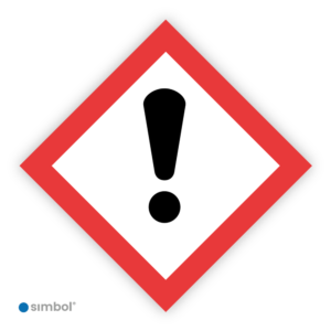 Simbol - Sticker GHS07 Schadelijk - Harmfull - Duurzame Kwaliteit