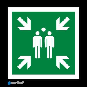 Simbol - Stickers Verzamelplaats Bij Evacuatie - BHV Verzamelplaats (E007) - Duurzame Kwaliteit