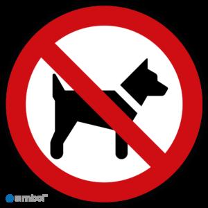 Simbol - Stickers Verboden Voor Dieren - Dieren Niet Toegestaan (P021) - Duurzame Kwaliteit