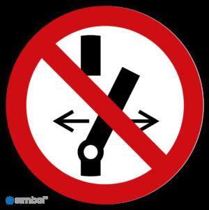 Simbol - Stickers Niet Schakelen (P031) - Duurzame Kwaliteit