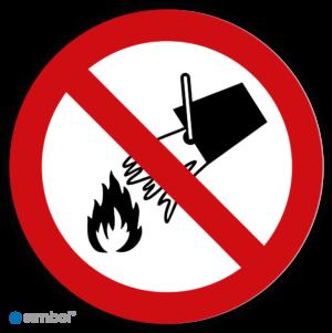 Simbol - Stickers Verboden Te Blussen Met Water - Niet Met Water Blussen (P011) - Duurzame Kwaliteit