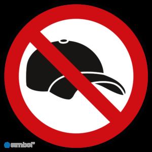 Simbol - Stickers Petjes Verboden - Geen Petjes Dragen - Caps Verboden - Duurzame Kwaliteit