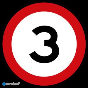 Simbol - Stickers 3 km - Maximaal 3 km/u - Duurzame Kwaliteit