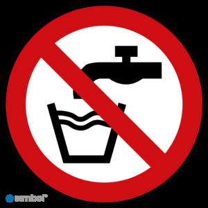 Simbol - Stickers Geen Drinkwater - Niet Drinken (P005) - Duurzame Kwaliteit