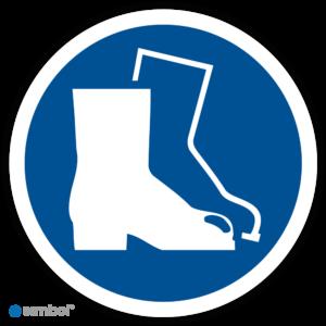 Simbol - Stickers Veiligheidsschoenen Verplicht - (M008) - Duurzame Kwaliteit